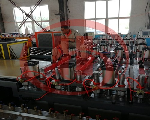 WPC solid door board making machine for 30-45mm thickness