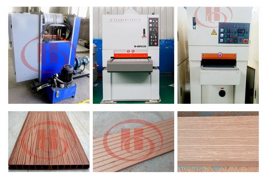 WPC machine surface treatment