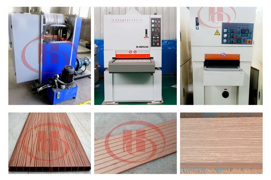 WPC product embossing sanding brushing machine