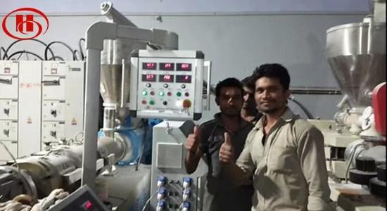 wpc door frame machine installed in india