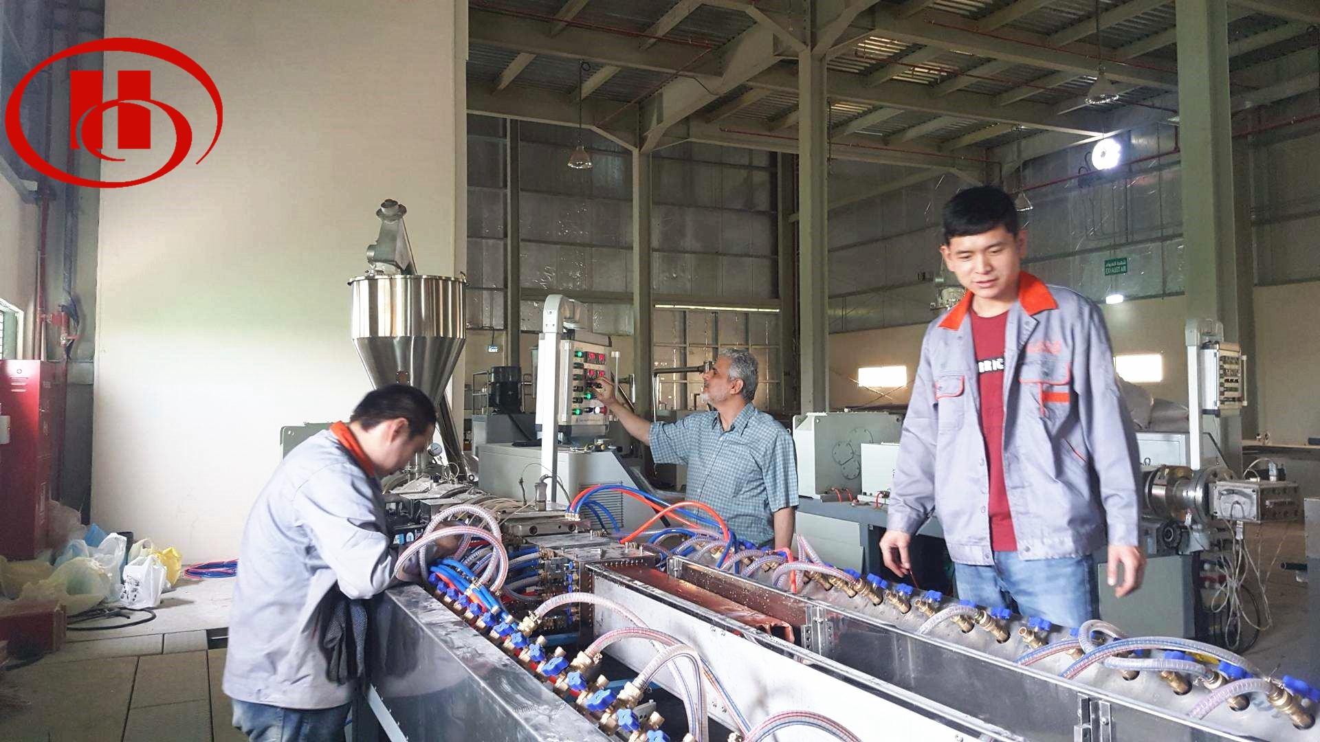 WPC machine installation