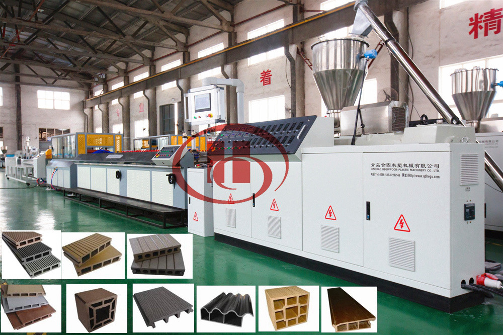 wood plastic wpc profile extrusion machine