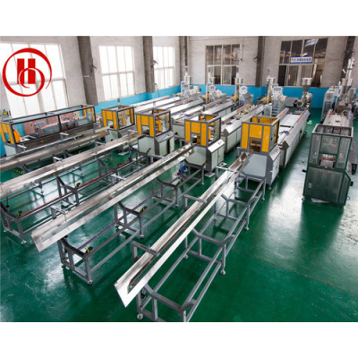 PP PE PVC+wood Conical double screw WPC extruder for wood plastic composite extrusion machine