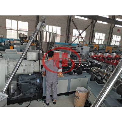 Solid PVC WPC board extruder machine