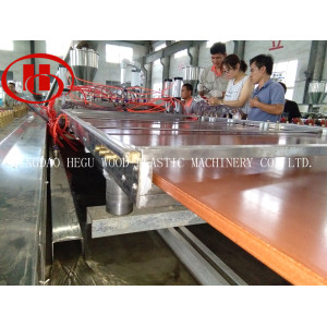 PP PE WPC solid board extrusion machine for making 1220mm WPC panel by recycled plastic and wood