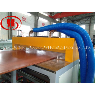 WPC board production machine to make Low cost WPC solid panel with recycled PP/PE plastic and wood