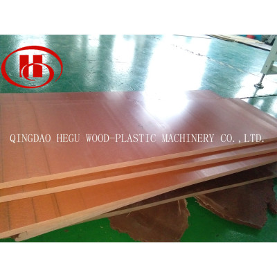 high output Solid WPC board manufacturing machine use 70% wood and 30% recycled PP/PE plastic