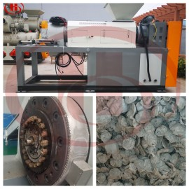 plastic film recyling machine delivery to Ivory Coast (plastic film drying and granulation machine)