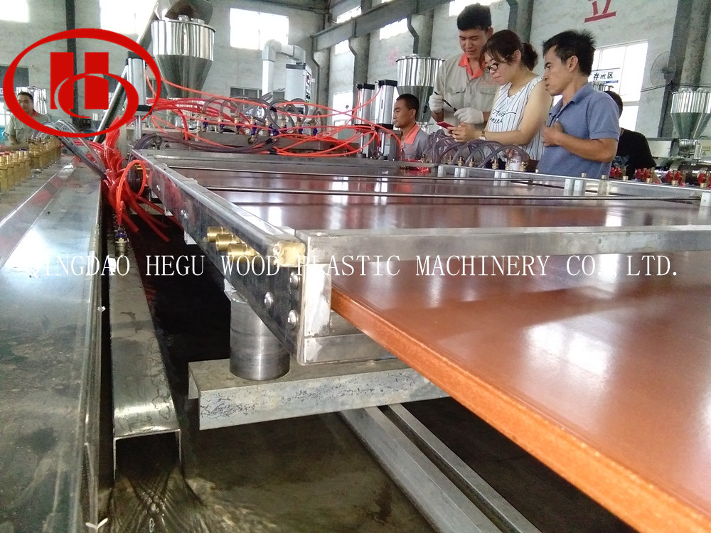 PE WPC panel machine to Vietnam