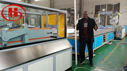 PE foam panel machine to Qatar