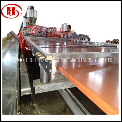 WPC solid panel making machine using recycled PP PE plastic with 60% wood powder
