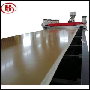 concrete wood plastic board production line/WPC construction template formwork board making machine