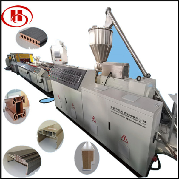 PVC WPC window and door frame making machine WPC profile extrusion line