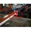 PVC window frame profile extrusion machine