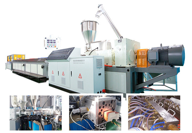 PVC window frame profile extrusion machine
