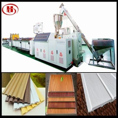 300mm PVC WPC wall panel making machine / PVC WPC profile extrusion line