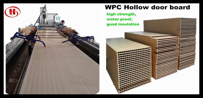 WPC door panel extrusion line