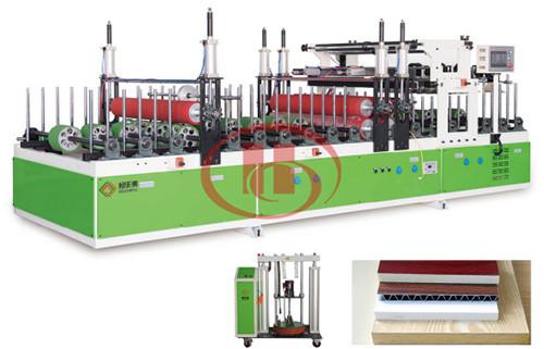 WPC door panel PUR lamination machine