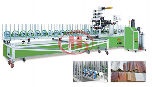WPC door frame PUR lamination machine