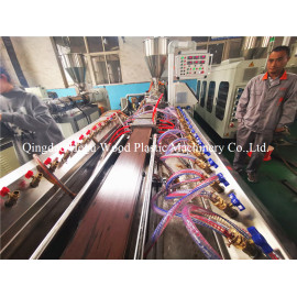 Wood Color making on PE WPC profile extrusion line by single extruder without co-extrusion