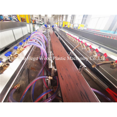 Wood polymer WPC products making machine
