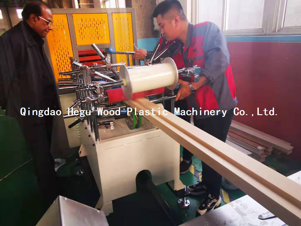 wpc door frame protection film coating machine