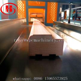 India customer order WPC door frame machine for making solid WPC door jamb