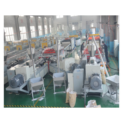 WPC panel making machine for produce cabinet panel by PVC and wood powder