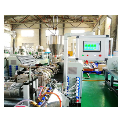 PE WPC profile extrusion machine for making WPC deking/wall cladding/pergola/fence post