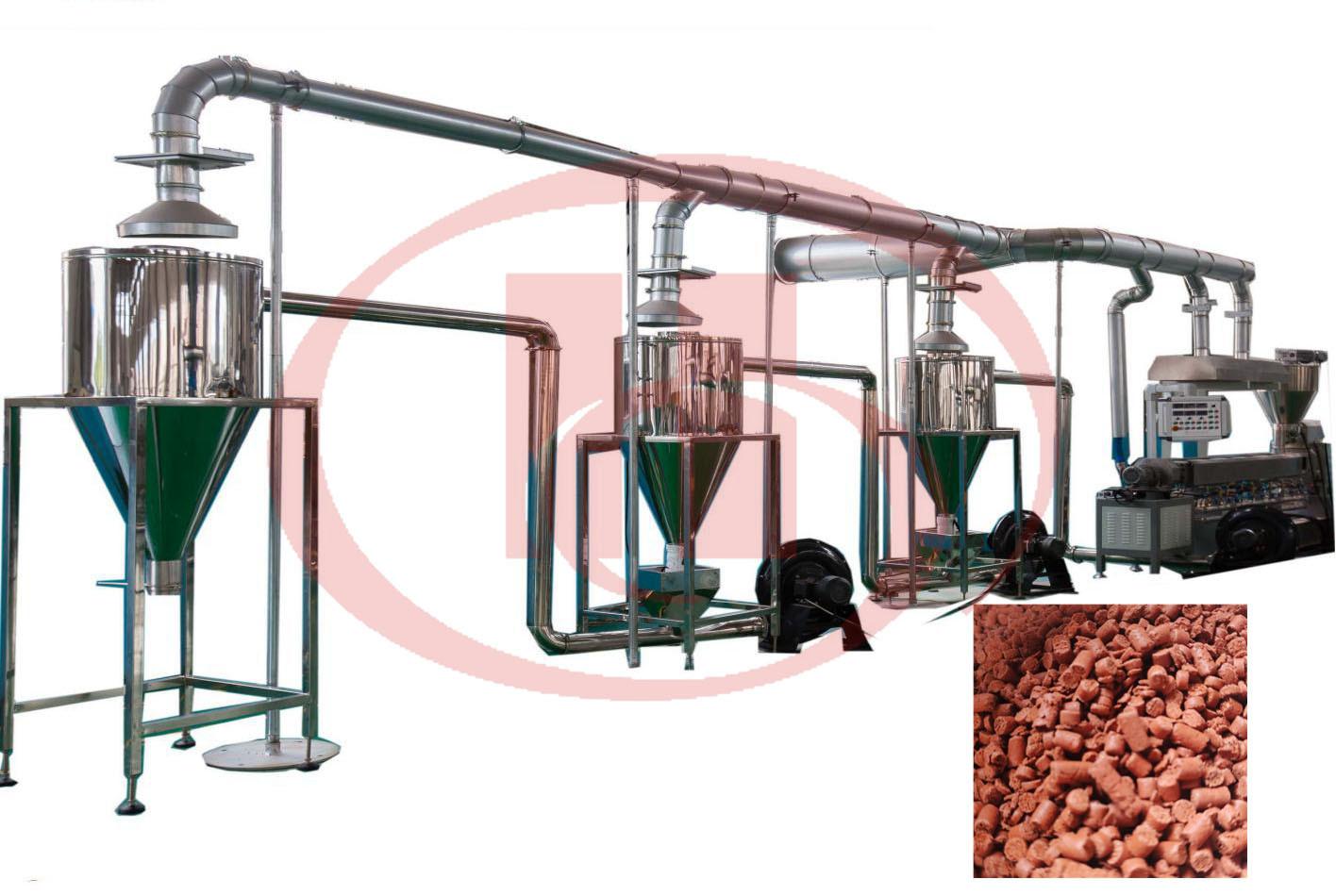 wpc granulation machine