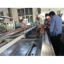 PVC window profile making machine tested in Hegu successfully