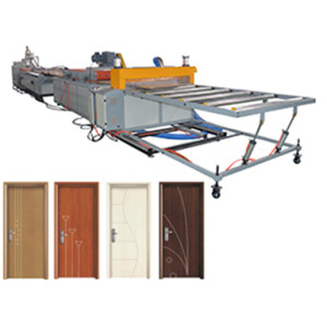 PVC Wood Plastic WPC Door Making Machine Complete WPC door Production Line Manufacturer