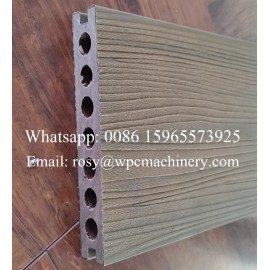 high quality WPC decking machine with co-extrusion and 3D embossing