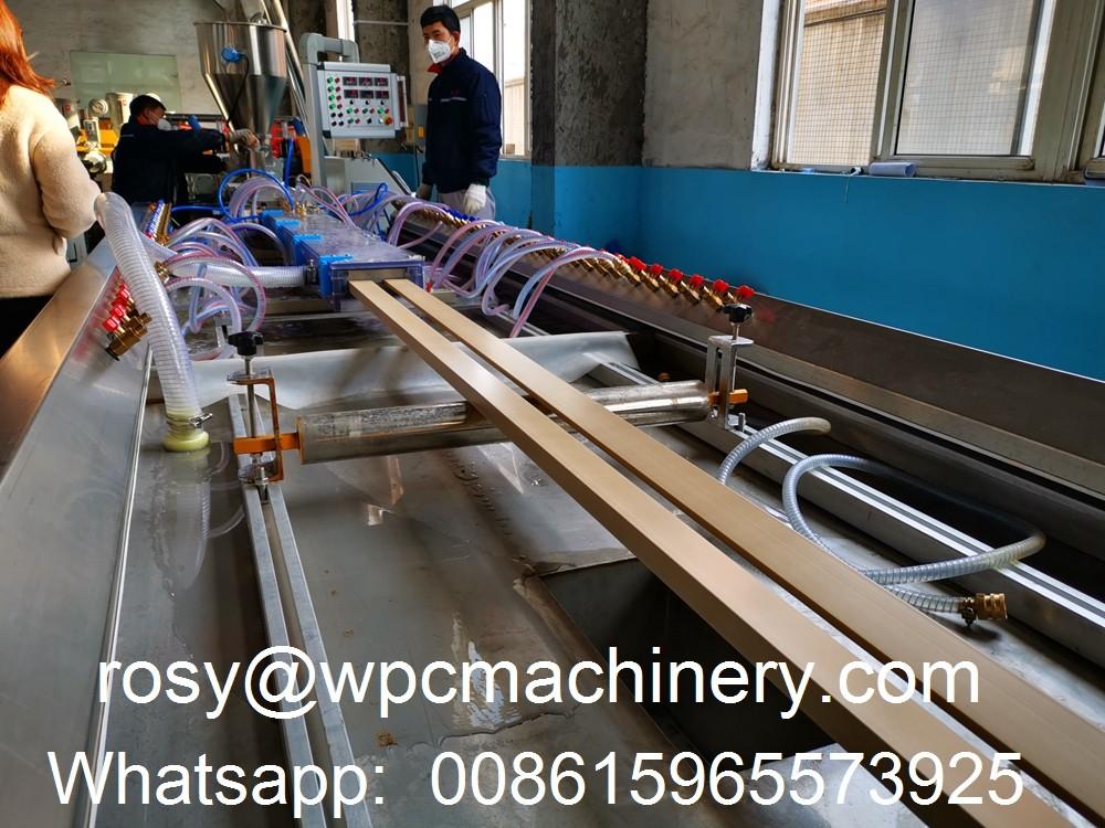 WPC door architrave extruder machine