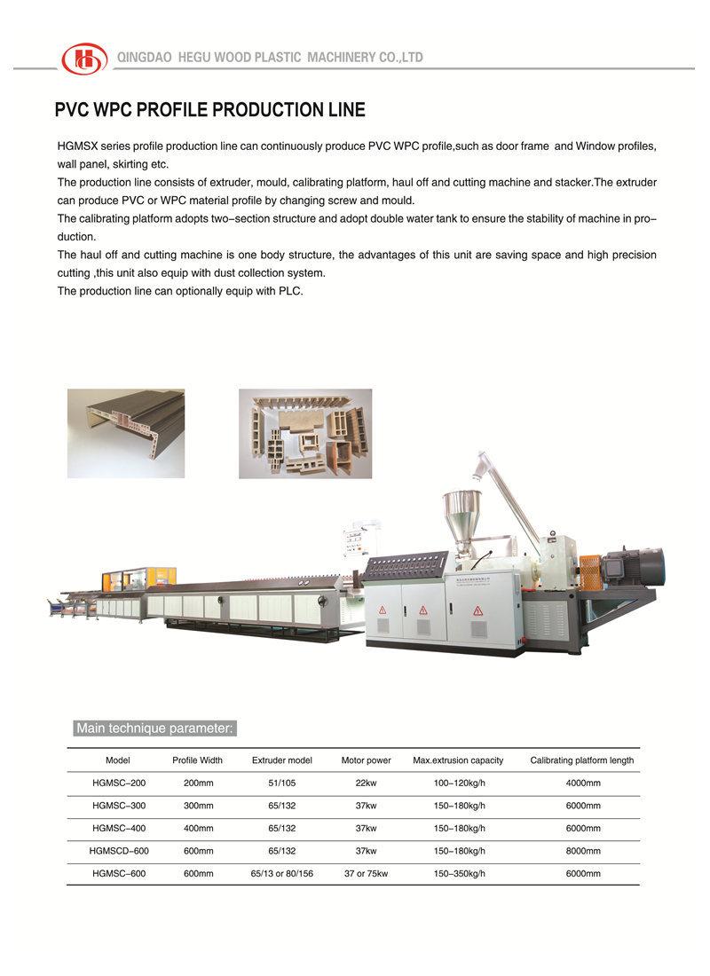 pvc wpc profiles production line