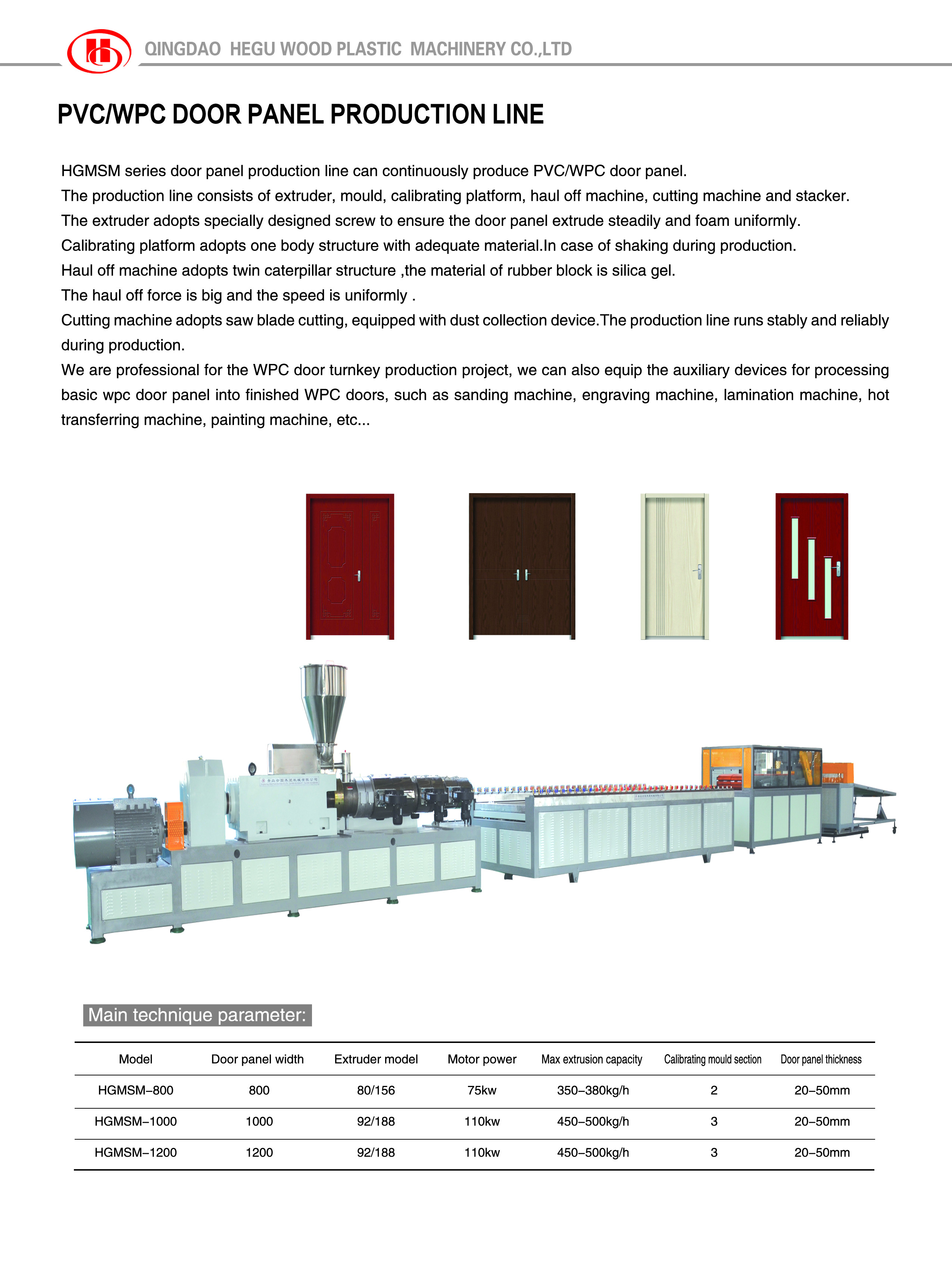WPC door panel making machines