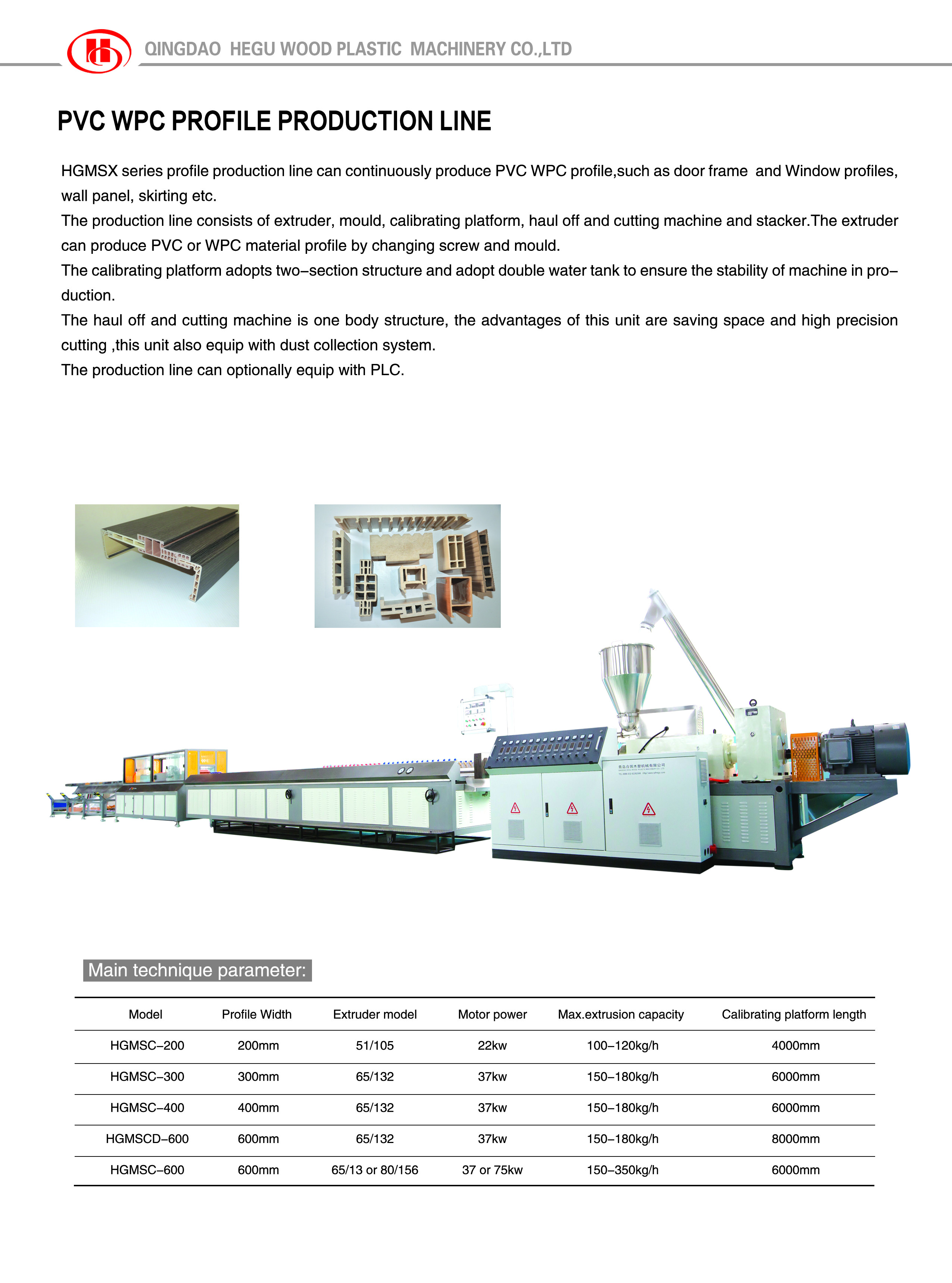 WPC door frame making machines