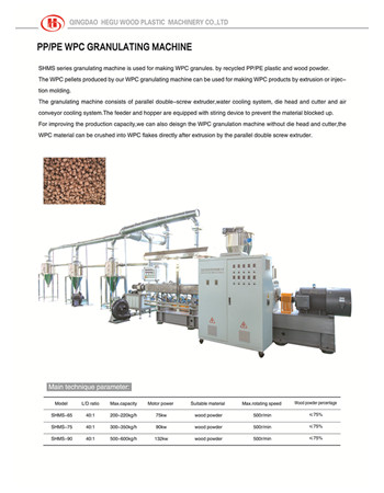 PE WPC granulating machine