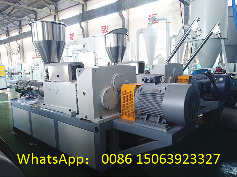 Conical double screw extruder