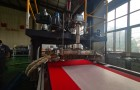 Hegu 500-800mm PP melt blown fabric extrusion line tested successfully for PFE95+ fabric making