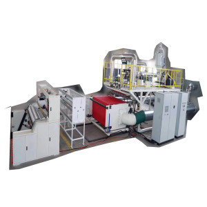 1600mm Melt blown cloth PP sheet extrusion machine for making PFE95+ filter fabric