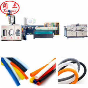 9-50mm High Speed PP PE PVC Plastic Single Wall Corrugated Pipe Machine making electricity conduit