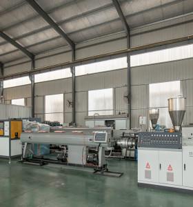 50-160mm Machine d'extrusion de tuyau de drain d'eau de PVC
