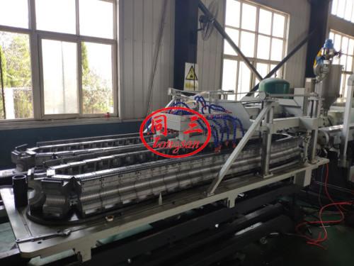 Экструзионная Линия для двухстенных гофрированных труб из ПВХ