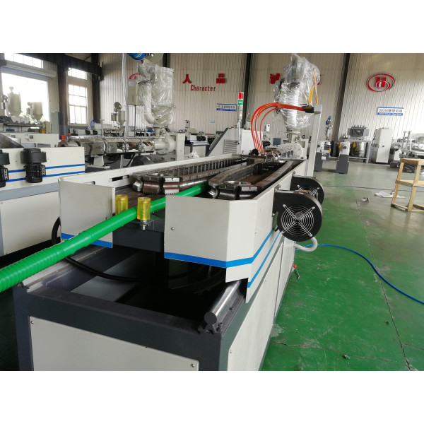 Compromise Joint Plastic Single Wall Corrugated Pipe Extrusion Machine Line for making air conditioner pipe