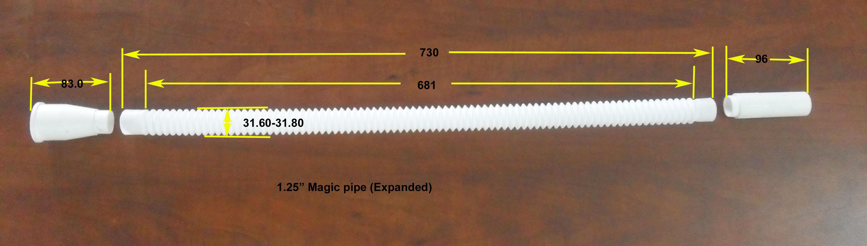 magic corrugated pipe