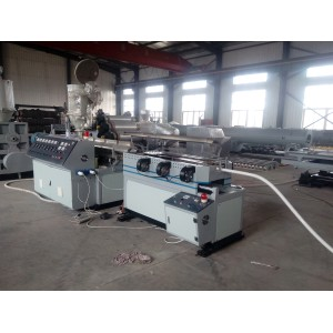 Plastic Magic corrugated pipe manufacturing machine with auto folding and cutting device