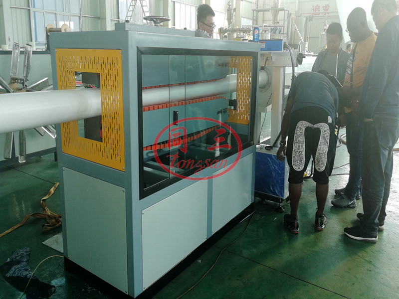 PVC pipe pull off machine