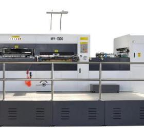 TS-1300 Automatic flat to flat die cutting machine with waste cleaning for creasing PP hollow sheet