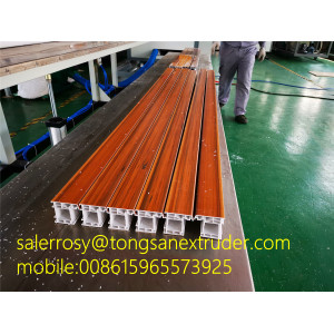 ASA Wooden Color Rubber Seal Coating Co-Extrusion Automatic PVC Window Profile Making Machine